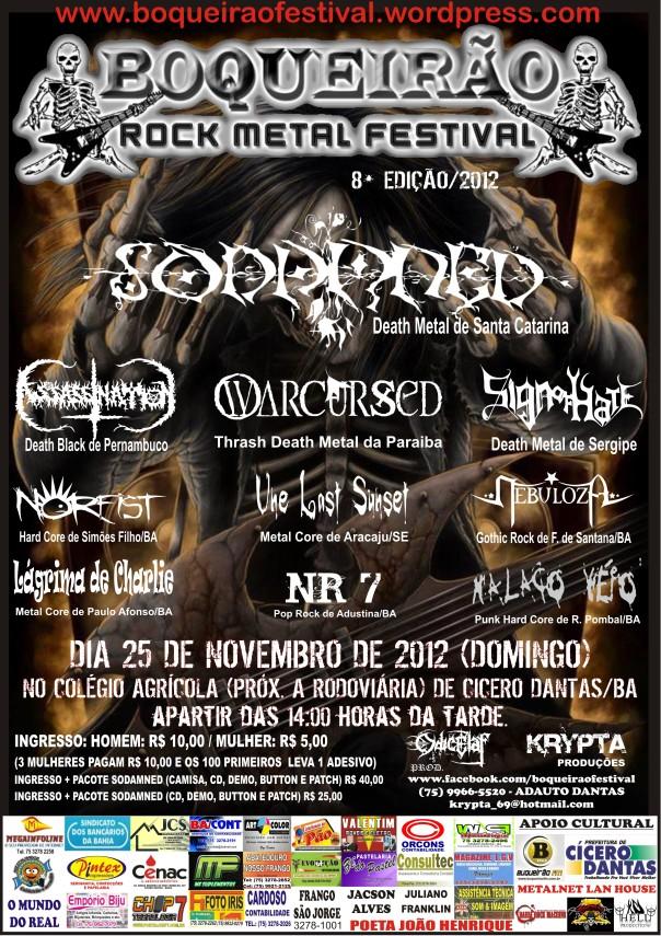 8° BOQUEIRÃO ROCK METAL FESTIVAL CONFIRMADO!!!  CARTAZ OFICIAL.